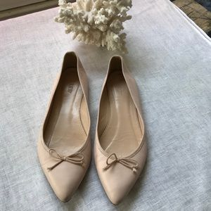J.Crew sunwashed pink leather flats